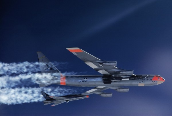 B-52 Dropping Rocket Plane