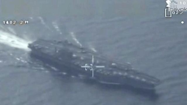 Drone de vigilância iraniano sobrevoou porta-aviões americano no Golfo Pérsico (1)