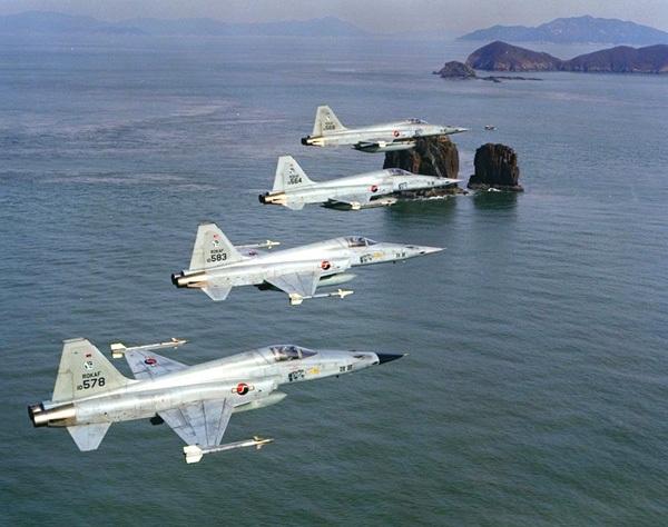 O grosso das forças de ataque e caça da Coréia do Sul era formado por mais de duzentos F-5 (E/F). Nas missões ar-ar eles portavam mísseis AIM-9 Sidewinder, mas também podiam levar bombas convencionais, foguetes não guiados e bombas de napalm, para ataque ao solo.