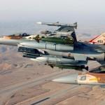 Caças F-16 israelenses e jordanianos confrontaram aeronaves russas ao longo da fronteira síria