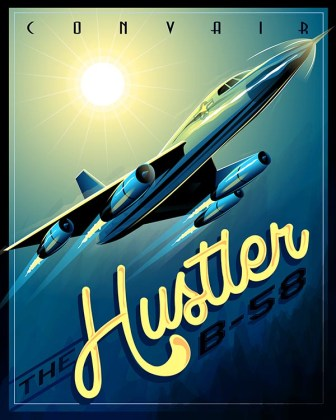 B 58 9 - Bombardeiros do pós-guerra: Convair B-58 Hustler