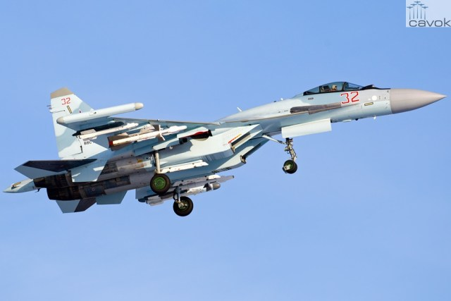Su-35S - VKS, Red 32 (RF-95496), by Vadim