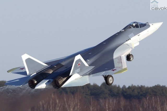 Sukhoi T-50-5R PAK-FA (Foto - Valentin Mizanov)