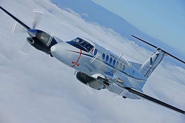 A França vai utilizar duas aeronaves King Air 350 ISR para missões de operações especiais. (Foto: Beechcraft)
