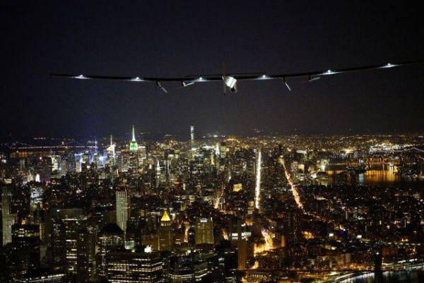 Sobrevoando a ilha de Manhattan. (Foto: Solar Impulse)