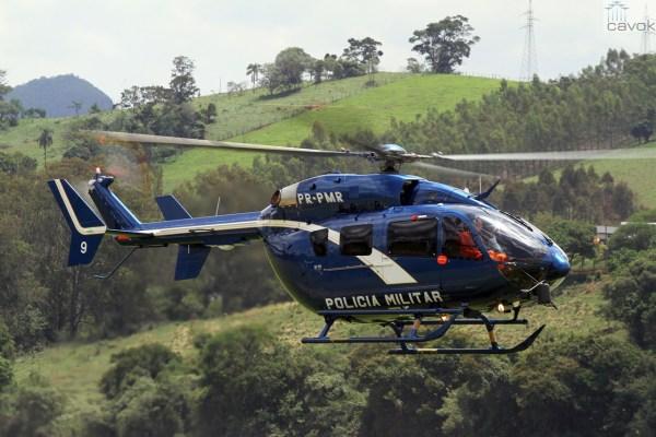 Primeiro helicóptero EC145 do contrato de aquisição de dois aparelhos é equipado com o mais avançado sistema de segurança. (Foto: Helibras / Felipe Christ)
