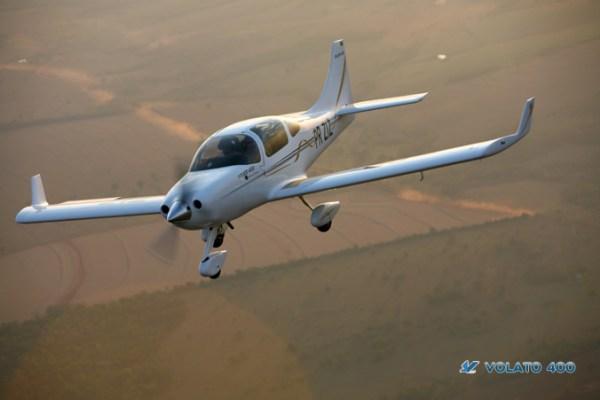 A aeronave Volato 400 que será fabricada em Campina Grande, Paraíba. (Foto: Volato Aeronaves)