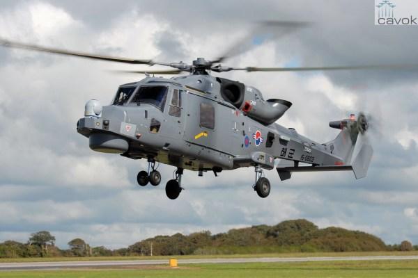 A Real Marinha da Coreia do Sul recebeu os quatro primeiros helicópteros AW159 Wildcats.