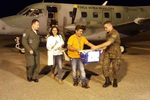 Aeronaves dos Esquadrões de Transporte Aéreo estão empenhadas nas operações de apoio. (Foto: Agência Força Aérea)