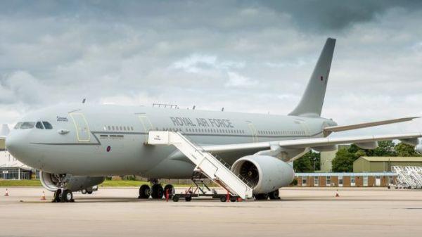 O primeiro Airbus A330 Voyager da RAF convertido para uma versão de transporte VIP. (Foto: Paul Crouch / MoD UK)