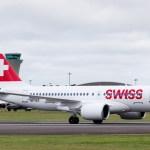 IMAGENS: Swiss inicia voos comerciais com o Bombardier CS100