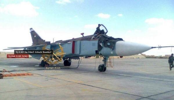 A Força Aérea da Síria recebeu duas novas aeronaves Su-24M2 da Rússia.