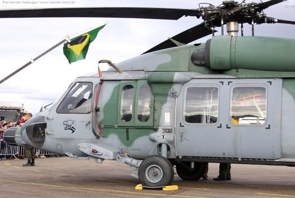 Dois esquadrões da FAB utilizam o Black Hawk, sendo um deles o 5° Esquadrão do 8° Grupo de Aviação (5º/8º GAv) - Esquadrão Pantera, de Santa Maria. (Foto: Fernando Valduga / Cavok)