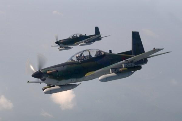 As aeronaves KT-1 fabricadas pela KAI podem ser usadas em missões de treinamento e de ataque leve. (Foto: Republic of Korean Air Force)