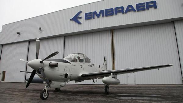 As aeronaves A-29 Super Tucano para o Líbano estão sendo fabricadas nos Estados Unidos. (Foto: Embraer)