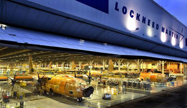 A linha de fabricação da Lockheed Martin em Marietta, Georgia. (Foto: Lockheed Martin)