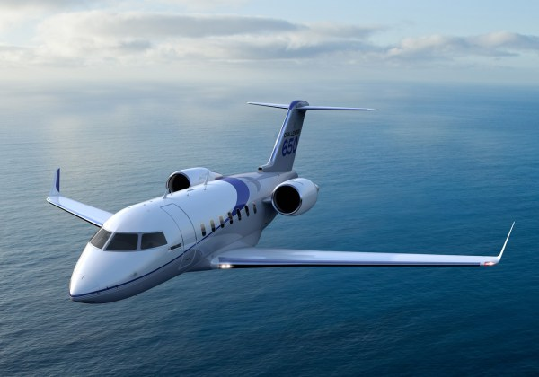 O jato executivo Challenger 650 da Bombardier. (Foto: Bombardier Business Aircraft)
