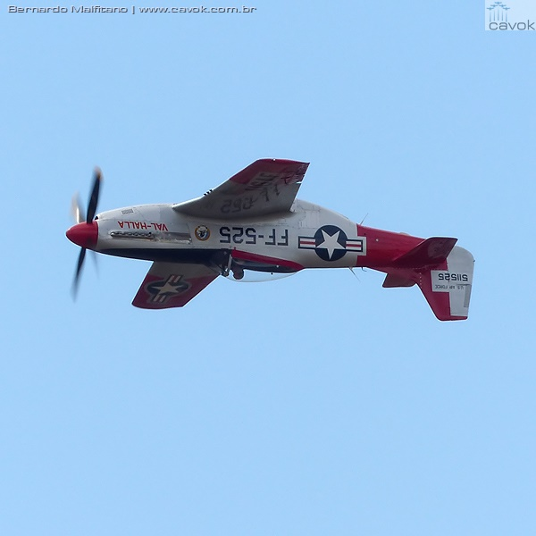 Caça P-51 Mustang. (Foto: Bernardo Malfitano / Cavok)