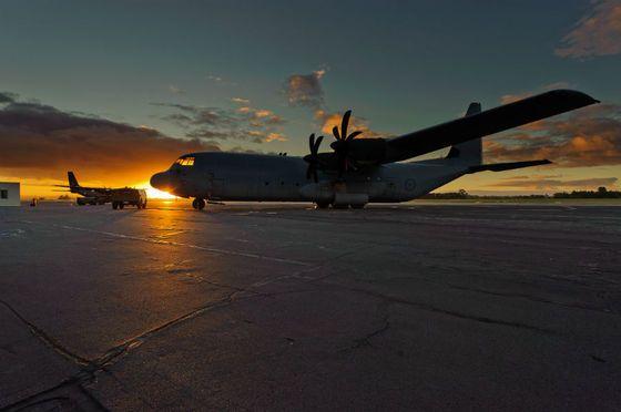 Uma aeronave C-130J da Real Força Aérea Australiana. (Foto: Australian MoD)