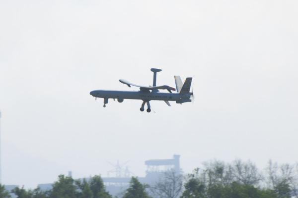 Os Hermes 450 estão operando nas missões de vigilância durante as Olimpíadas. (Foto: Agência Força Aérea)