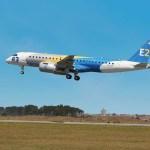 Voa o terceiro protótipo do Embraer E190-E2