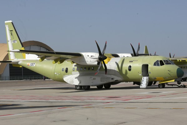 O primeiro C295W destinado para Força Aérea Brasileira, visto na unidade da Airbus em Sevilha, Espanha. (Foto: Airbus)