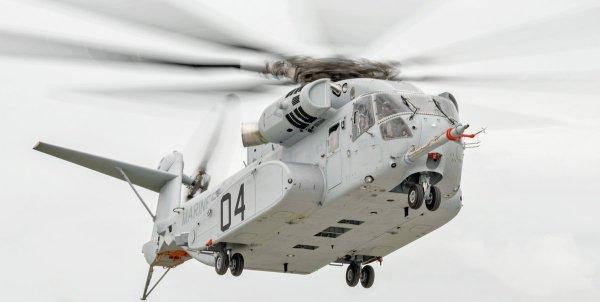 O quarto protótipo do CH-53K King Stallion durante seu voo inaugural em West Palm Beach, Florida. (Foto: Sikorsky)