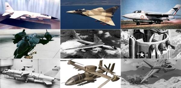 Aeronaves que poderiam ter dado certo e entrado em operação, mas que por algum motivo ficaram somente no projeto.