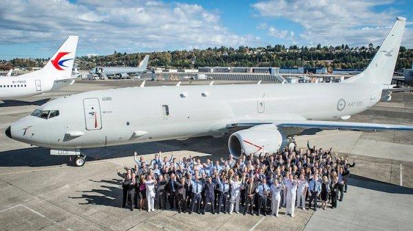 P 8A RAAF Boeing 600x336 - Boeing apresenta oficialmente o primeiro P-8A da RAAF