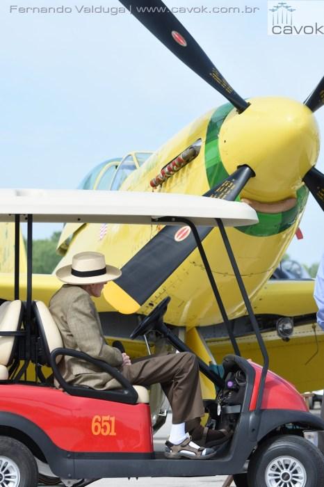 Bob Hoover e seu inesquecível P-51 'Ole Yeller'. (Foto: Fernando Valduga / Cavok)