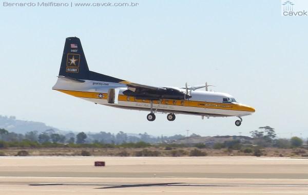 Fokker F27 Fellowship dos Golden Knights.  (Foto: Bernardo Malfitano / Cavok)