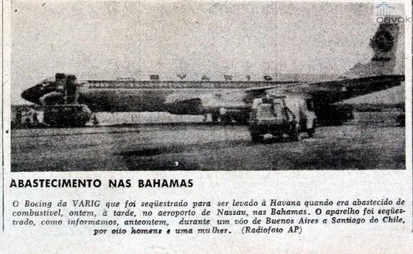Escala para reabastecimento nas Bahamas, no primeiro sequestro. (Arquivo Marcelo Magalhães)