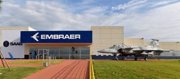 O novo Centro de Projetos e Desenvolvimento do Gripen inaugurado hoje em Gavião Peixoto. (Foto: Embraer)