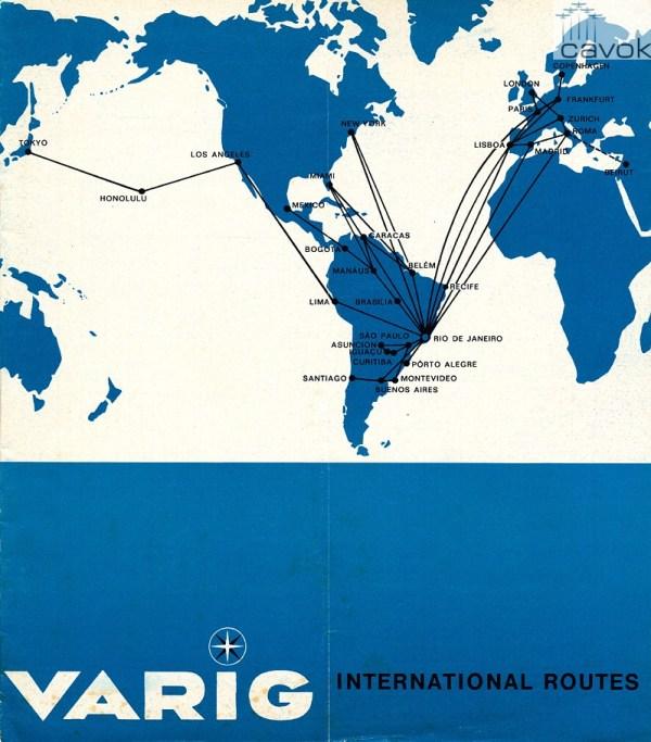 O mapa de rotas da RG de 1969 - ano dos dois primeiros sequestros.