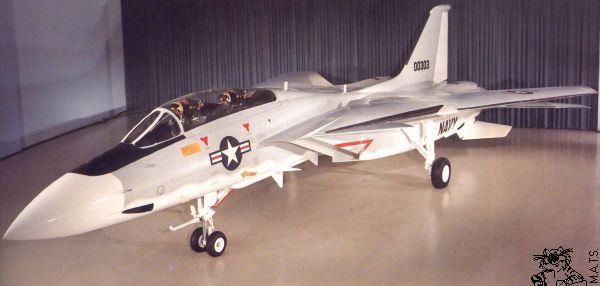 Muitos não sabem, mas o F-14 inicialmente não teria dois estabilizadores verticais, mas como os testes de túnel mostraram que estabilidade em baixas velocidades poderia ser um problema, o design final teve dois estabilizadores verticais (Foto: Home of MATS)