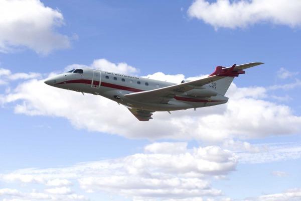 Aeronave IU-50 do GEIV homologa procedimento de navegação satelital. (Foto: Luiz Eduardo Perez / DECEA)