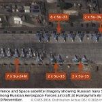 IMAGEM: Satélite mostra que os caças navais russos na Síria estão operando a partir da Base Aérea russa de Humaymim