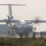 IMAGENS: Aeronave anfíbia chinesa AG600 aciona seus motores pela primeira vez