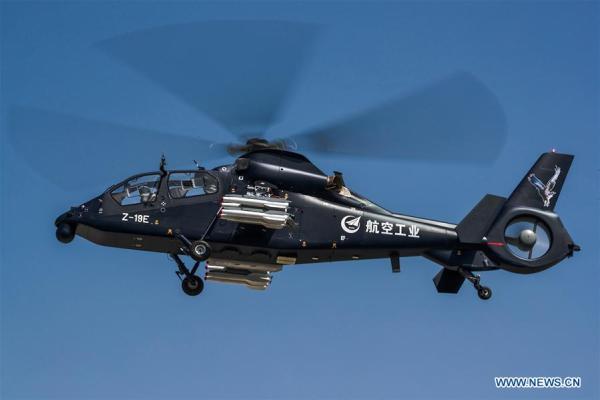 136295384 14951105698041n 600x400 - VÍDEO E IMAGENS: Helicóptero armado chinês Z-19E realiza voo inaugural