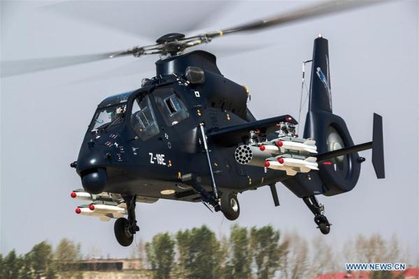 136295384 14951106090041n 600x400 - VÍDEO E IMAGENS: Helicóptero armado chinês Z-19E realiza voo inaugural