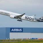 Airbus realiza voo de 12 horas com passageiros no A350-1000 para testes de vários sistemas