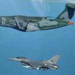KC-390 voará em formação com caças F-16 durante show aéreo em Portugal