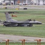 Acidente com caça F-16 durante decolagem nos EUA