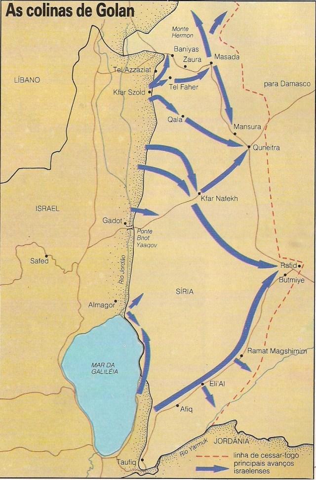 Imagem 33 3 - GUERRA DOS SEIS DIAS: Os combates pelas colinas de Golan