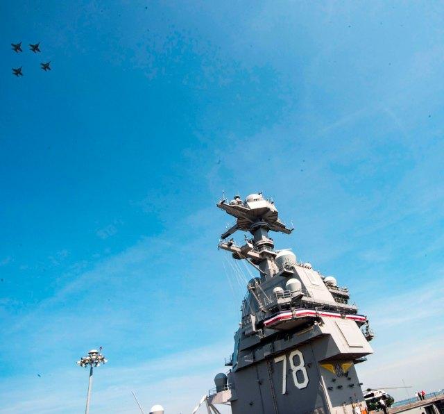 Super Hornet CVN 78 2 - Comissionado o mais novo porta-aviões da Marinha dos EUA