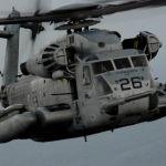 CH-53E dos EUA faz pouso de emergência no Japão após incêndio em voo