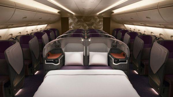 Business ClassA380 Singapore airlines 600x338 - IMAGENS: Singapore Airlines revela nova experiência de voo a bordo de seus A380