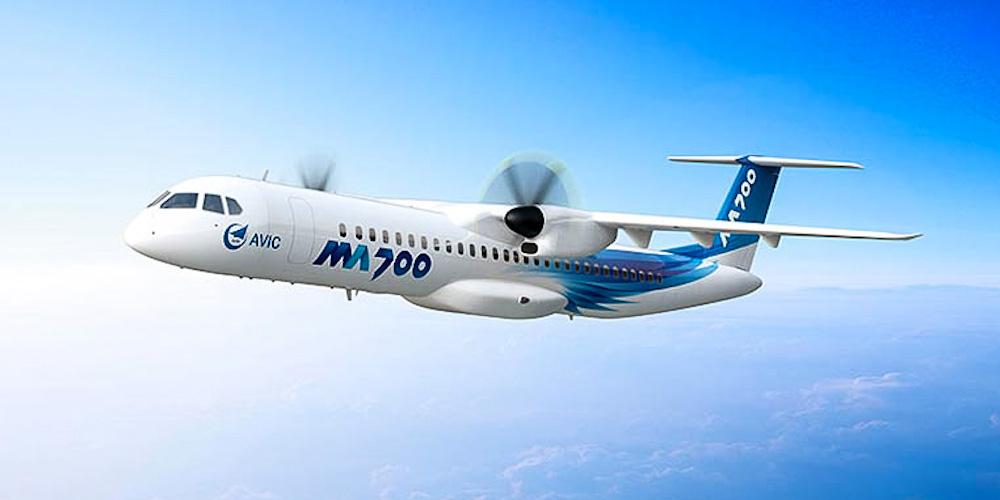 China inicia fabricação da nova aeronave turboélice regional MA700