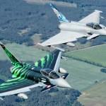 """TIGER MEET: Eurofighters voltam para casa com um troféu para o Typhoon """"Ghost Tiger"""""""
