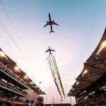 VÍDEO: Espetacular sobrevoo de aeronaves sobre o Grande Prêmio F1 de Abu Dhabi